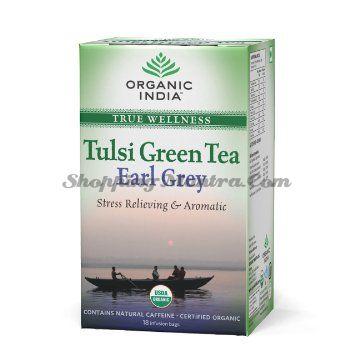Зеленый чай Тулси Эрл Грей Органик Индия / Organic India Tulsi Green Tea Earl Grey Tea Bags