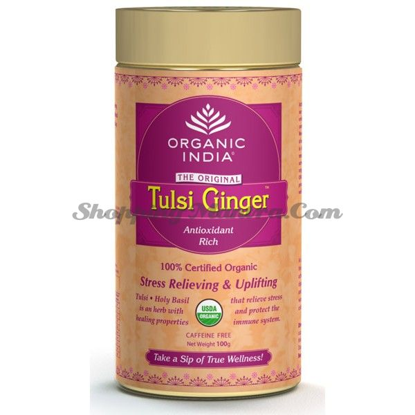Чай Тулси Имбирь заварной Органик Индия / Organic India Tulsi Ginger Tin