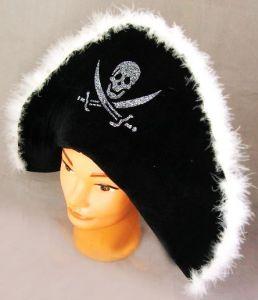 Шляпа пирата с опушкой