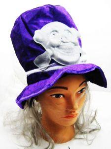 Шляпа фиолетовая с черепом