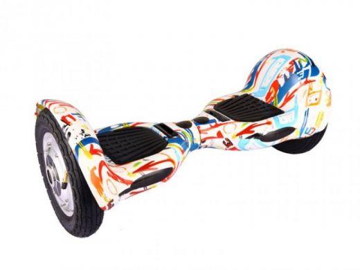 Гироскутер Smart Balance SUV 10 Самобаланс Белый Граффити