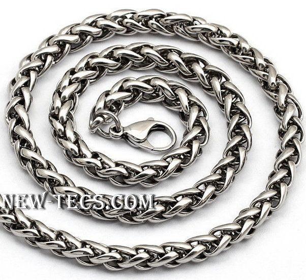 Мужская цепь плетение Колос 70 см