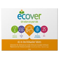 Ecover Экологические таблетки для посудомоечной машины 3-в-1, 500 г, 25 шт.