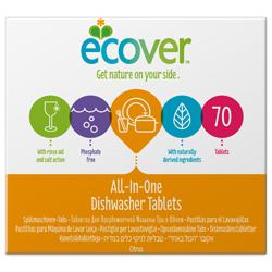 Ecover Экологические таблетки для посудомоечной машины 3-в-1 1400 г 70 шт.