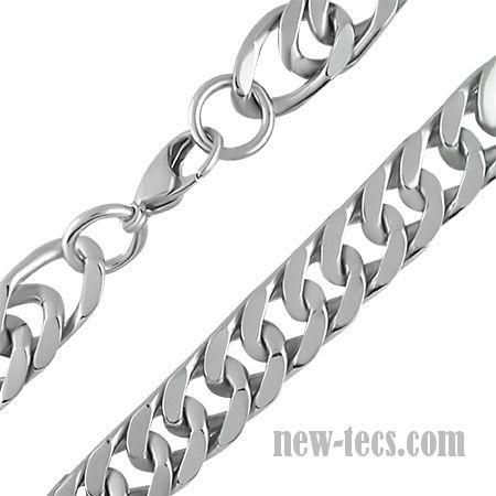 Серьёзная мужская цепь из хирургической стали 1,3 см
