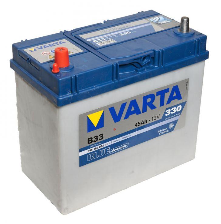Автомобильный аккумулятор АКБ VARTA (ВАРТА) Blue Dynamic 545 157 033 B33 45Ач тонкие клеммы ПП