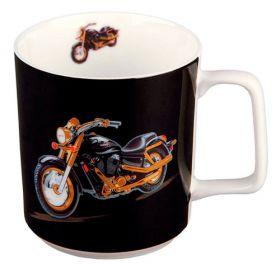 "Кружка ""Мотоцикл"" подарочная упаковка, фарфор 390 мл."