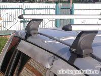 Багажник на крышу Land Rover Freelander 2, без рейлингов, Атлант, крыловидные дуги, опора Е
