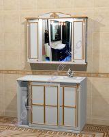 """Мебель в ванную """"Руссильон PROVENCE Комби-L белый с патиной"""""""