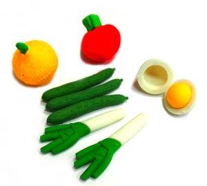 """Набор ластиков """"Овощи"""""""