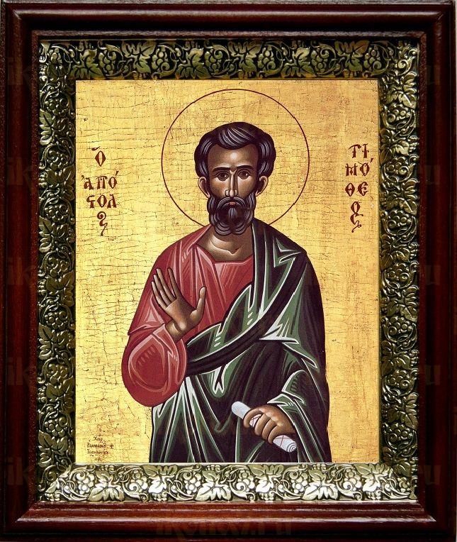 Тимофей, апостол (19х22), темный киот
