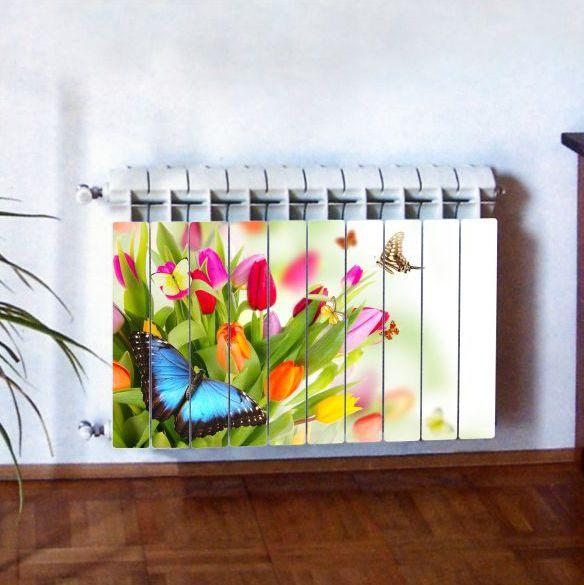 """Фотодекор для радиатора отопления """"Цветы 0002"""""""
