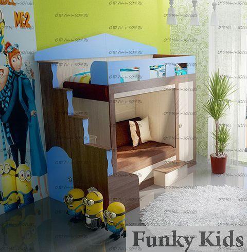 Кровать двухъярусная Фанки Хоум-11003