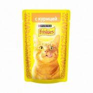 Friskies  Влажный корм для кошек с курицей (пауч 85 г)