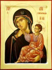 Отрада и Утешение икона Божией Матери (рукописная)