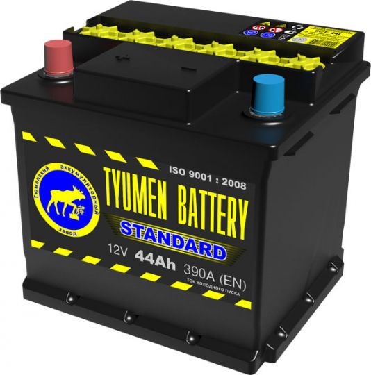 Автомобильный аккумулятор АКБ Тюмень (TYUMEN BATTERY) STANDARD 6СТ-44L 44Aч П.П.