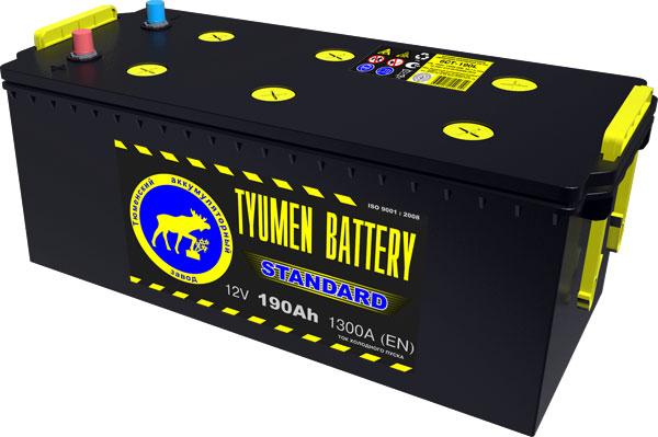 Автомобильный аккумулятор АКБ Тюмень (TYUMEN BATTERY) STANDARD  6CT-190L 190Aч О.П. (3) (евро)
