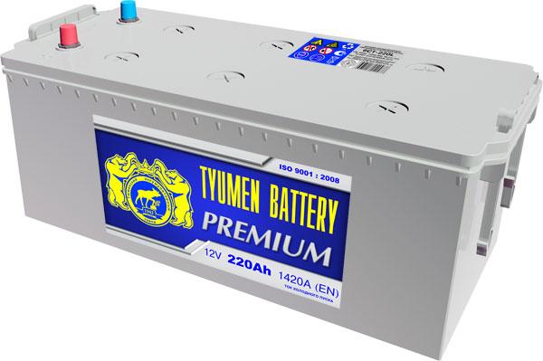 Автомобильный аккумулятор АКБ Тюмень (TYUMEN BATTERY) PREMIUM 6CT-220L 220Aч П.П. (4) (росс)