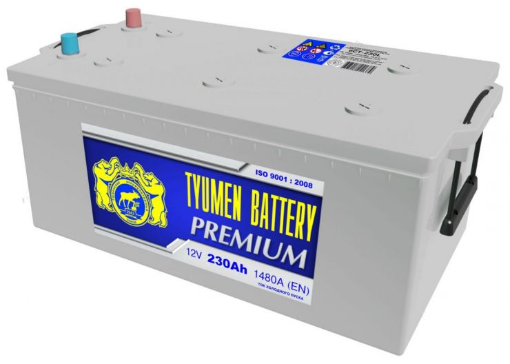 Автомобильный аккумулятор АКБ Тюмень (TYUMEN BATTERY) PREMIUM 6СТ-230L 230Aч О.П. (3) (евро)