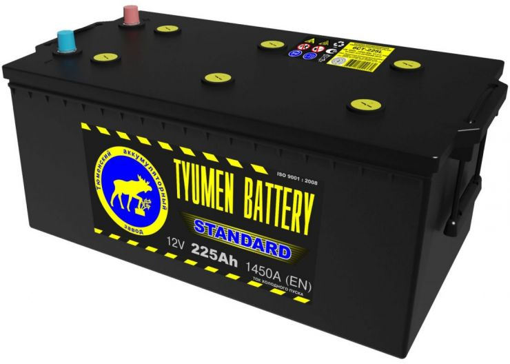 Автомобильный аккумулятор АКБ Тюмень (TYUMEN BATTERY) STANDARD  6СТ-225L 225Aч О.П. (3) (евро)