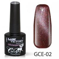 Гель-лак GCE-02 «Кошачий глаз» Lady Victory 7,3 мл.