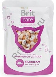 Консервы для кошек Brit Pouch White Fish Морской лещ 80 г.