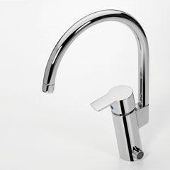 Смеситель Oras Cubista (2839F) для кухни с клапаном.