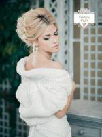 свадебные шубки накидки горжетки купить напрокат для невесты из меха фото