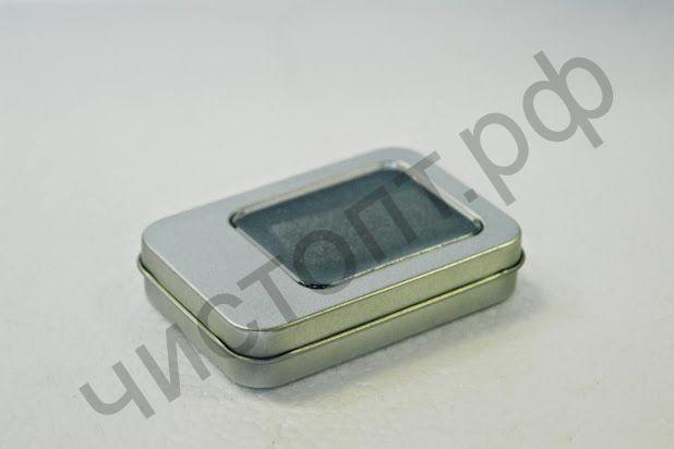 Упаковка для флешек ( и не только ) металическая с окном подарочная