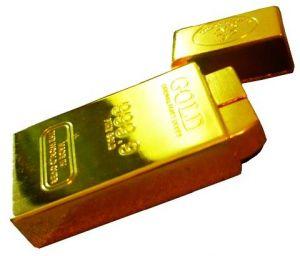 """Зажигалка """"Слиток золота"""" (средняя)"""