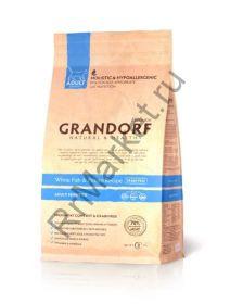 GRANDORF White Fish & Potato Adult Sensitive, Белая рыба с картофелем для взрослых кошек Сенситив