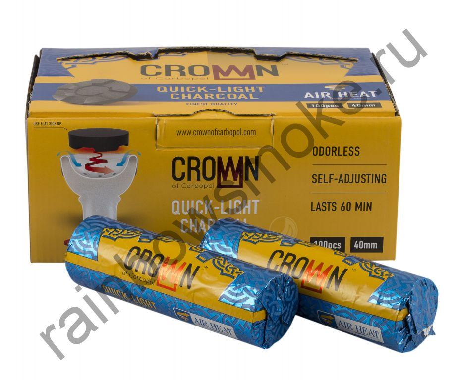 Уголь для кальяна Carbopol CROWN 40 мм (Коробка)
