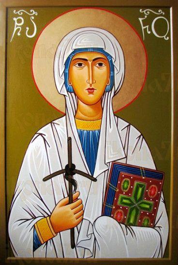 Нина, равноапостольная (рукописная икона)