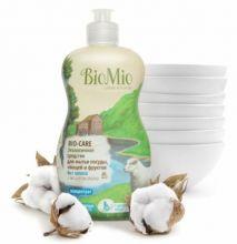 Bio-Mio средство для мытья посуды Bio-Care с экстрактом хлопка и ионами серебра без запаха 450 мл