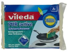 """Vileda губка """"PUR Active"""" для стеклокерамических плит, 2 шт"""