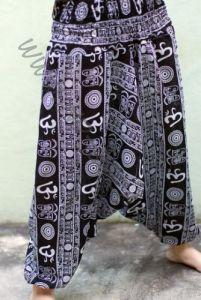 Чёрные женские штаны алладины Символ ОМ