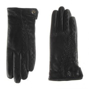 Перчатки женские 02104715348_01; кожа; черный (Размер 8)