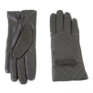 Перчатки женские 02104715351_03; кожа; серый (Размер 8)