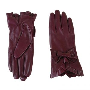 Перчатки женские 02104215376_40; кожа; фиолетовый (Размер 8)