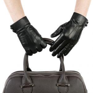 Перчатки женские 27К_40019_10_1309П; кожа; черный (Размер 6,5)