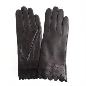 Перчатки женские 27_134_496_1109; кожа; черный (Размер 6,5)