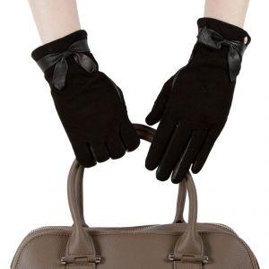 Перчатки женские 29К_40041_12/10_1309П; кожа; черный (Размер 7)