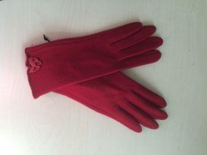 Перчатки женские 27_111_130_1109; шерсть; рубиновый (Размер М)
