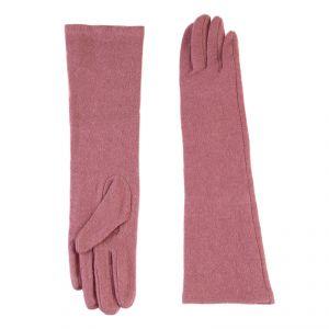 Перчатки женские 02109115232_23; шерсть/акрил; коралловый (Размер M)