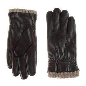 Перчатки мужские 02204715387_11; кожа; шоколад (Размер 8)