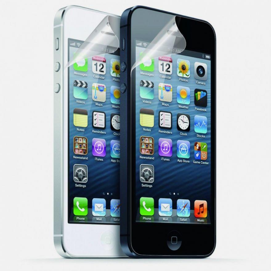 Защитная пленка на экран для iPhone 5/5S/5C (комплект передняя+задняя)