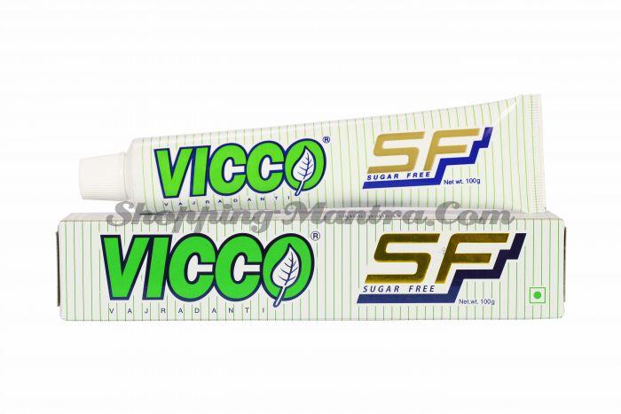 Аюрведическая зубная паста без сахара Ваджраданти Викко / Vicco Vajradanti Toothpaste Sugar Free