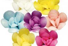 Вафельный цветок ФИАЛКИ микс 5шт/уп