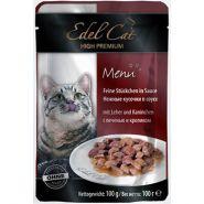 Edel Cat Нежные кусочки в соусе с печенью и кроликом (100 г)