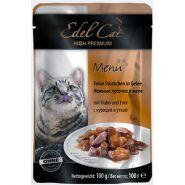 Edel Cat Нежные кусочки в желе с курицей и уткой (100 г)